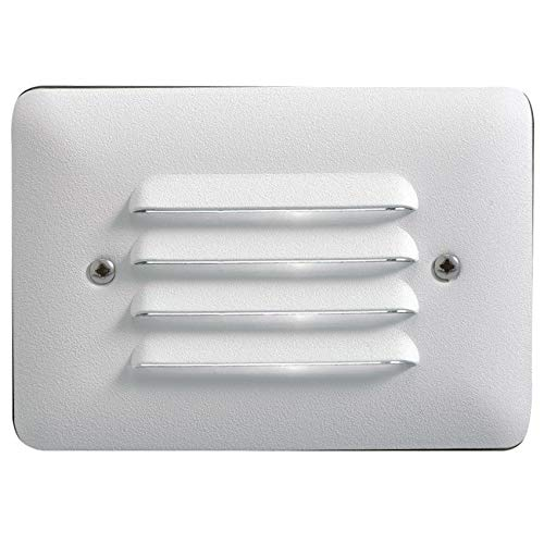 Kichler 15782WHT27R Landscape 2700K LED Louvered Mini Step in White