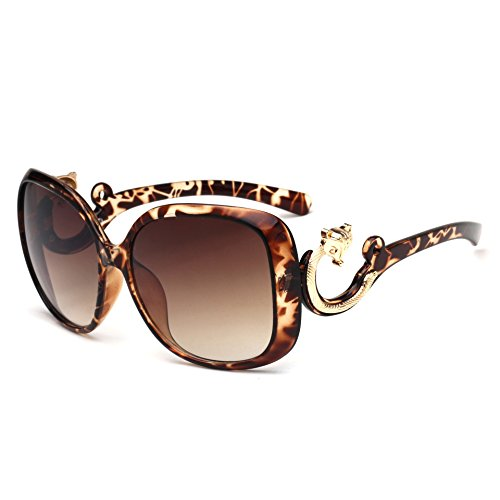 De para Protección Mujer Gafas Sol UV400 GAOJUAN Beanflower Redblack Gafas Hgtx55