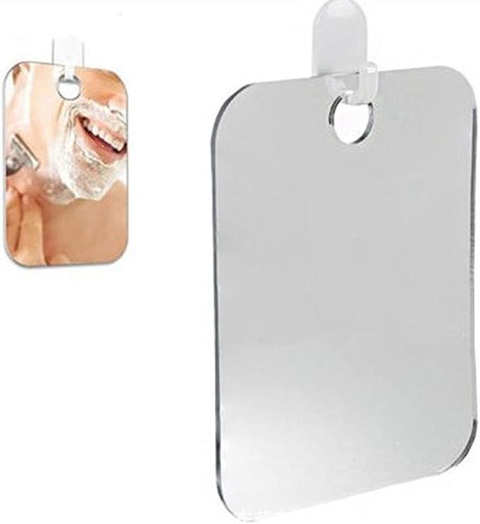 SWAMTIK Espejo de Ducha Ventosa Sin perforaci/ón y extra/íble Espejo de Ducha sin Niebla Giratorio de 360 Grados Impermeable A Prueba de Golpes y Resistente al /óxido Espejo Colgante para ba/ño/— Cromo