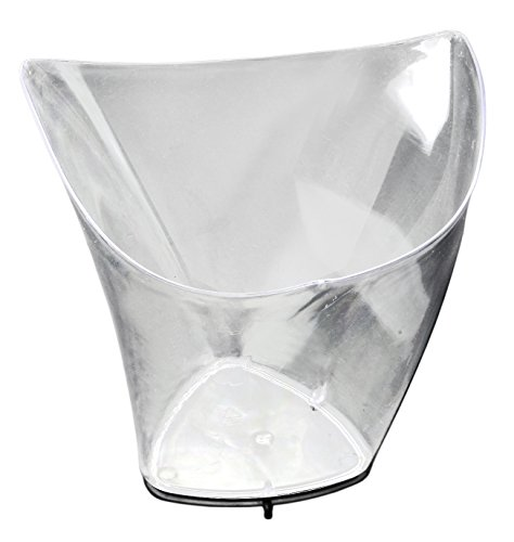 Table To Go 5 Oz Tall Triangle Wave Clear Plastic Dessert Tumbler Cups - 50 Pack (Plates Plastic Triangle)