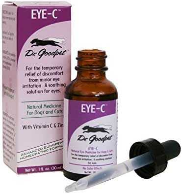 Dr. Goodpet Natural Vitamin C & Zinc Eye Drops for Dogs & Cats, Small