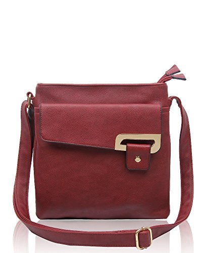 RS.FASHIONS Messenger Bags, Borsa a tracolla donna Multi Colour M Burgundy