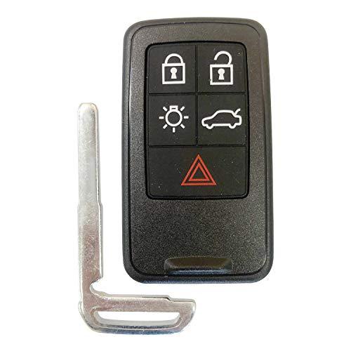 Unlock For VOLVO SMART KEY REMOTE V70 XC70 S80 XC60 S60 5 BUTTON KR55WK49266,by AUTOKEYMAX (SINGLE) ()