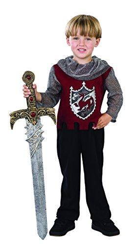 [Scarlet Knight Role Play Costume] (Toddler Renaissance Costumes)