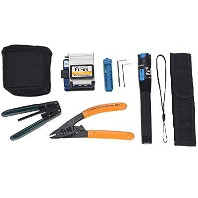 Fiber Optic Cleaver Stripping Kit FTTH Splicing Splice Fiber Optic Stripping Tool Kit Set With Fiber Cleaver FC-6S Fiber Optic Stripper YW-8FS CFS-3