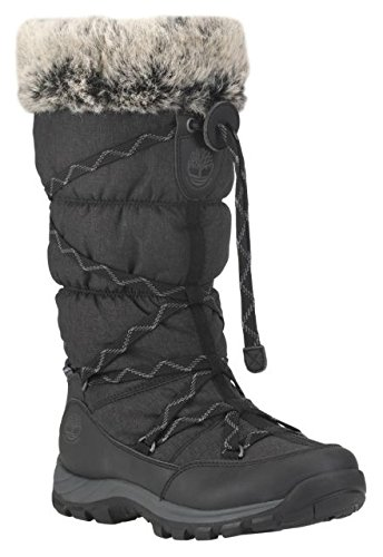 Timberland Womens Over The Chill - Waterproof Insulated Rain Boot Black Size 8 (Waterproof Boots Timberland Snow)