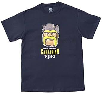 Custom Apparel Adult Clash of Clans Barbarian King T-Shirt: Clothing