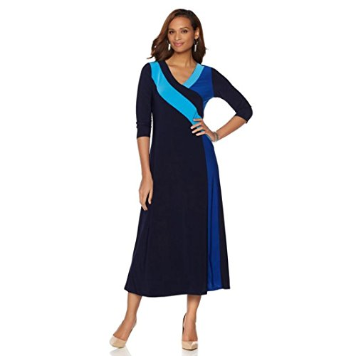 Colorblocked Maxi Dress (Antthony Modern Mondrian Colorblocked Maxi Dress Knit Navy Multi M New 537-900)