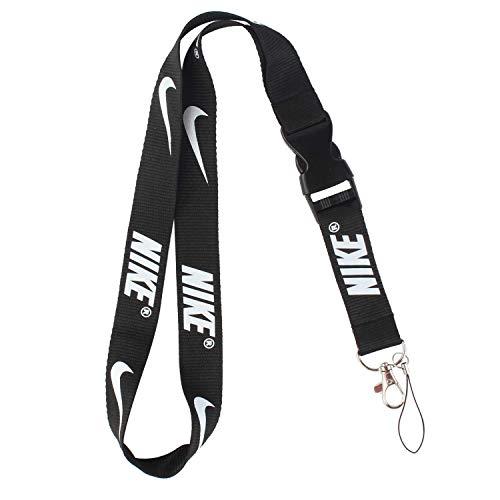 Lanyard Keychain Holder Keychain Key Chain Black Lanyard Clip with Webbing Strap (Nike)