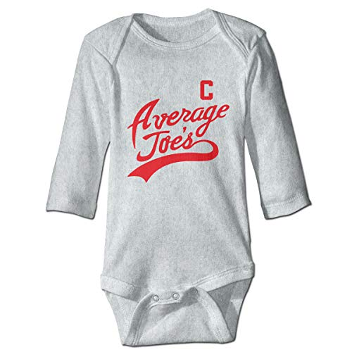 Boys Average Joe's Babysuit Long Sleeve Bodysuit Outfit Gray -