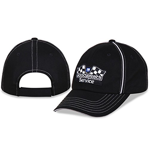 Checkered Flag GM Goodwrench Service Piping Logo CFS Unstructured Adjustable Black Hat/Cap ()
