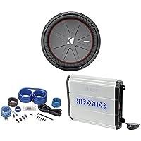 Kicker 43CWR152 COMPR15 15 1600w Car Subwoofer Sub+Hifonics Amplifier+Amp Kit