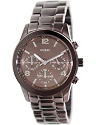GUESS Womens U14506L1  Chronograph Bronze Tone Stainless Steel Watch