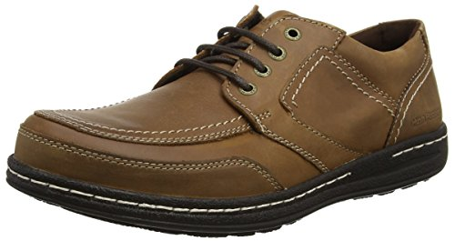 Hush Puppies Volley Victory, Scarpe Stringate Derby Uomo Marrone (Dark Tan)
