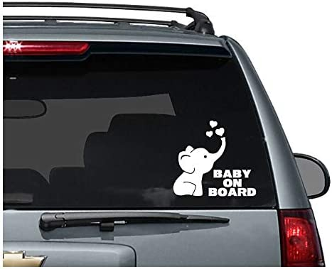 Celycasy Niedlicher Elefant Baby On Board Decal Baby Decal Auto Decals Baby Stickers Auto Aufkleber Modern Elephant Decal New Baby Küche Haushalt