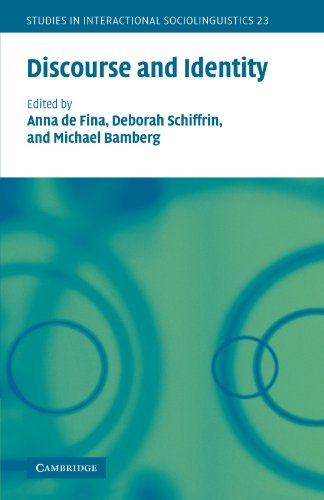 Discourse and Identity (Studies in Interactional...