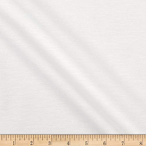 Telio Selwyn Stretch Gabardine Nylon Cotton Suiting Fabric, Off White, Fabric By The Yard