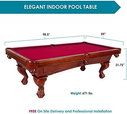 harvil Bellagio pizarra mesa de billar. Incluye entrega in situ, instalación profesional de 2,4 metros y accesorios, Rojo: Amazon.es: Deportes y aire libre