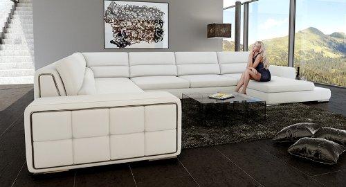 Leder Wohnlandschaft Sofa Couch Xxl Amazon De Kuche Haushalt