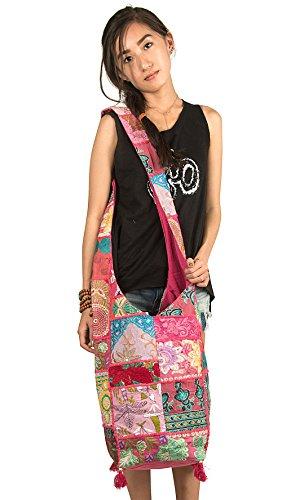 Bag Roomy Travel School Shoulder Tribe Body Market Floral Sling Hobo Pink Large Cross Azure Fashion pqwp4C0