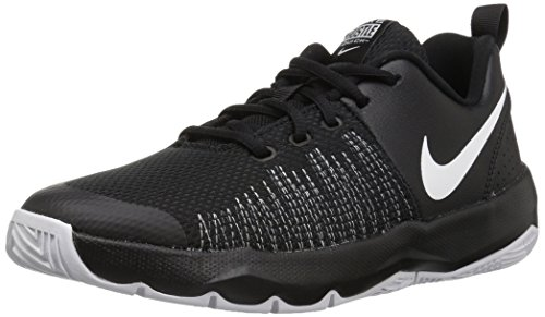 NIKE Boys' Team Hustle Quick (GS) Basketball Shoe, Black/White, 6.5 M US Big Kid
