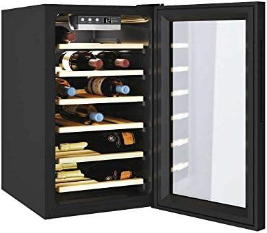 Candy Vinoteca CWC021ELSP - 21 Botellas - Baldas de Bambú - Display electrónico - Iluminación interna LED - Color Negro[Clase de eficiencia energética B]