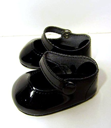 Black Patent Shoes Fits American Girl Doll Shoes, 18 Inch dolls shoes (Black Doll Shoes)