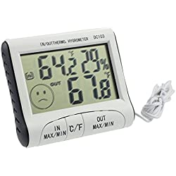 LtrottedJ Humidity Meters Home Use ,DC103 LCD Display Thermometer Humidity Temperature Hygrometer