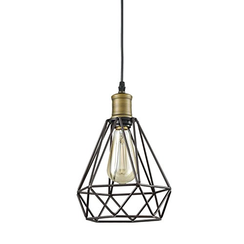 yobo lighting vintage oil rubbed bronze polygon wire