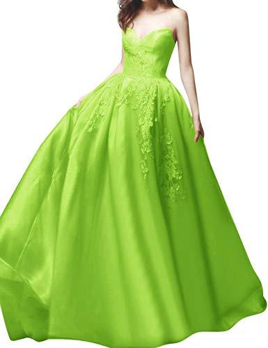 Indietro Innamorato Lime Verde Corsetto Sposa Sera Abito Bess Merletto Da Lungo Vestito Delle Donne Convenzionale 7BOqw56