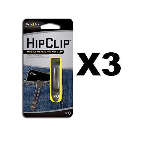 (Nite Ize HipClip Lightweight Stainless Steel Universal Adhesive Clip (3-Pack))