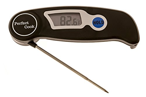 Perfect Cook - Digital Instant read Thermometer with Foldable stainless steel probe, Best for Food, Meat, Cooking, BBQ, Poultry, Grill Food, Oven, Candy & More (Chimney App compare prices)