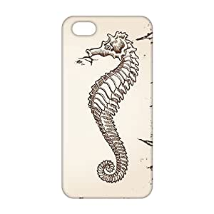 Wish-Store Simple sea horse 3D Phone Case for iPhone 5s