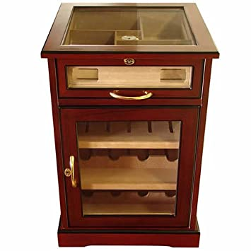Remarkable Wine And Cigars Cabinet Humidor Cherry African Bubinga Wood Exterior Spanish Cedar Interior End Table Humidors Polished Beveled Glass Download Free Architecture Designs Salvmadebymaigaardcom