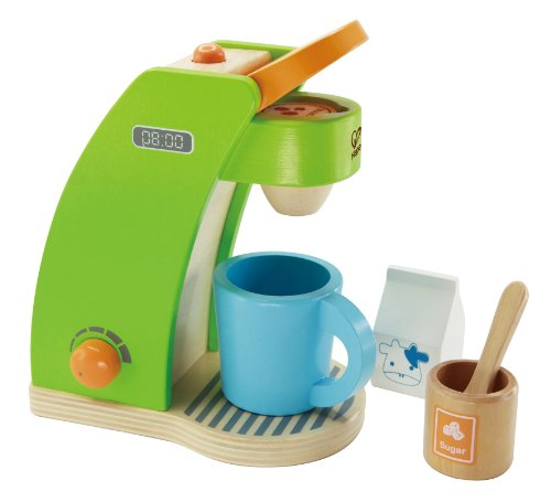 (Hape Kid's Coffee Maker Wooden Play Kitchen Set with Accessories)
