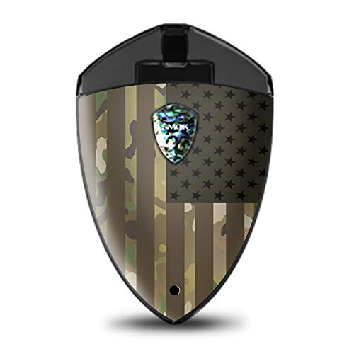 IT'S A SKIN Decal Vinyl Wrap for Smok Rolo Badge Pod System Mod Stickers Sleeve/American Flag camo Military Service USA Desert