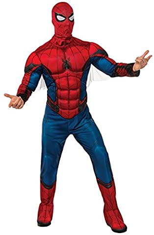 Rubie's Men's Spider-Man Deluxe Adult Costume, Spider-Man: Homecoming, Standard - Authentic Spider Man Costume Accessories