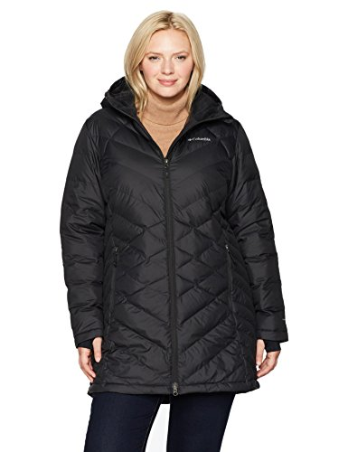 Columbia Women's Heavenly Long Hooded Jacket, Black, 3X