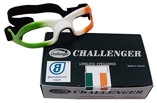 Challenger Lensless Coloured Eyeguards - Green/White/Orange -