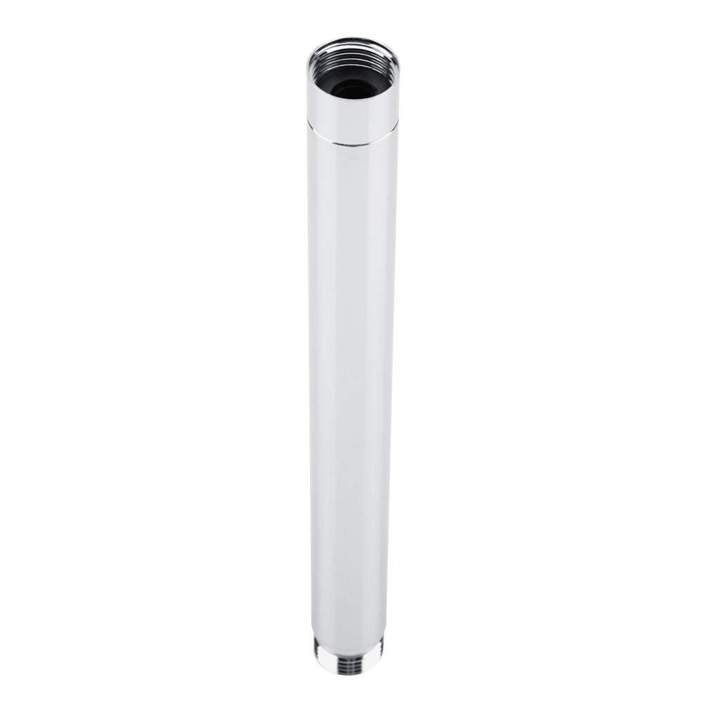 Tubo di prolunga per Doccia in Acciaio Inox Rotondo da 8 Pollici con placcatura in Cromo Accessorio per Il Bagno Tubo di prolunga per Doccia
