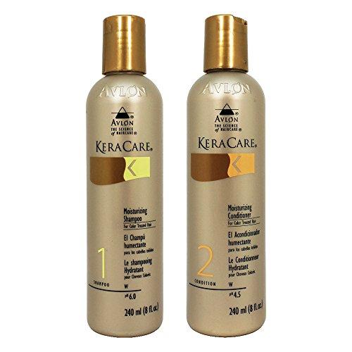 KeraCare Moisturizing Shampoo for Color Treated Hair 8 oz & KeraCare Moisturizing Conditioner for Color Treated Hair 8 oz Combo Set Keracare Moisturizing