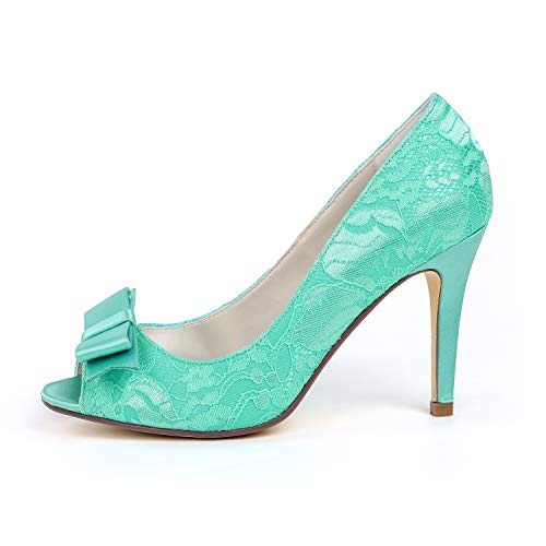A Para Peep L Pierna Mujer Zapatos Heels Purple Boda yc Toe De 9cm Tacón Satin Media 42 Tamaño Vestido 35 I6wqPwRan