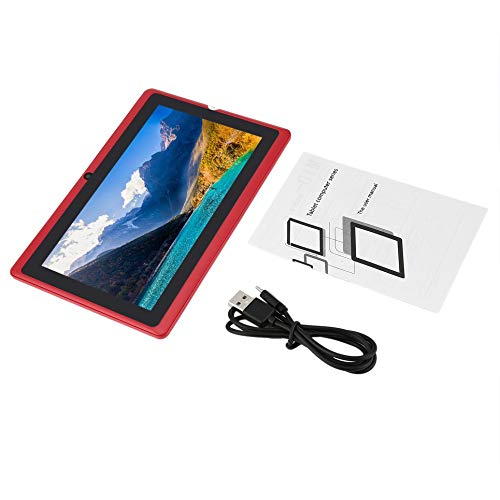 LeftCafe Refurbished Q88 Quad-core WiFi Tablet Seven-inch USB Power Supply 512M+4G red