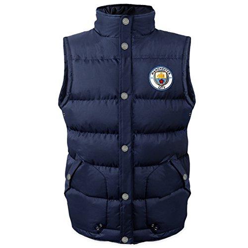 Manchester City FC - Herren Steppweste - Offizielles Merchandise - Geschenk für Fußballfans