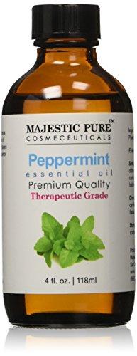 Majestic Pure Therapeutic Grade Peppermint Essential Oil, 4 Oz. With Dropper