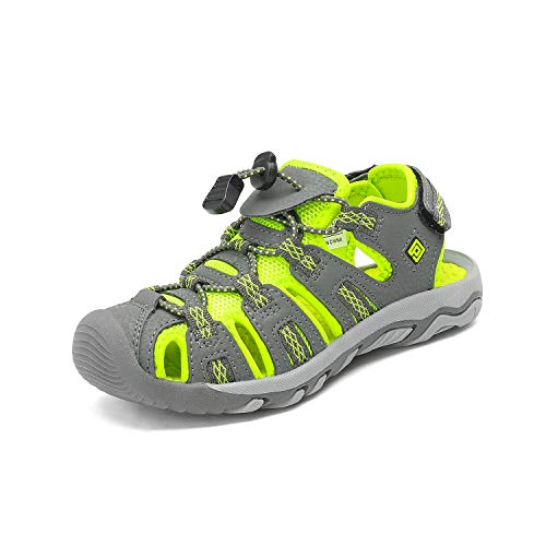 DREAM PAIRS Toddler 160912-K Grey NENO Green Outdoor Summer Sandals Size 10 M US Toddler -