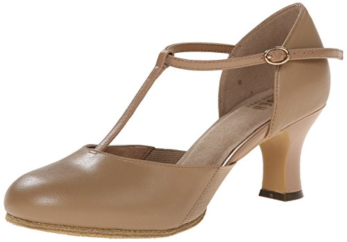 Bloch Splitflex T-Strap Character Shoe, Tan, 8.5 X(Medium) US]()