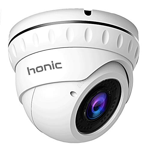 Honic 2MP TVI/AHD/CVI 2.8mm-12mm Varifocal CCTV Camera, 1080P HD Zoom Day Night Vision IR Dome Security Cameras, Waterproof Outdoor Analog Cam for Video Surveillance ()