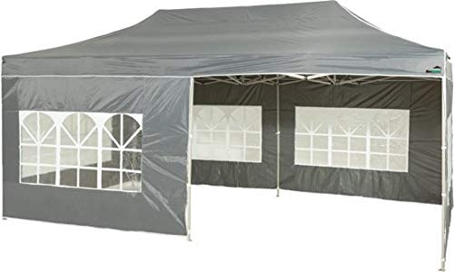 MaxxGarden - Cenador Impermeable de 3 x 4 m, Incluye Bolsa, protección UV 50+, Plegable, para jardín, con Paredes Laterales, Color Antracita: Amazon.es: Jardín