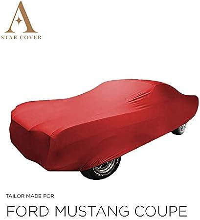 Autoabdeckung Rot Passend FÜr Ford Mustang 1 Fastback Ganzgarage Innen SchutzhÜlle Abdeckplane Schutzdecke Cover Auto